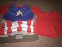 Reversible iron man and captain America size 8-9 years