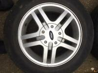 4x108 Ford Focus mint condition alloy wheels x 4 with caps and tyres