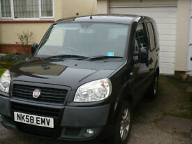 2008 Fiat Doblo 1.3 Multijet, Wheelchair Accessible Vehicle WAV, with 4 seats