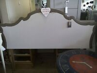 Wood Double Headboard in French Style.