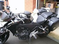 Honda cb500f, Black, Only 100 miles, Full Luggage, Professionally lowered.