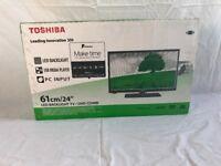 Brand New Toshiba 24-inch dvd combo tv