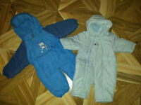 Two baby boy snowsuits size 0-3 months