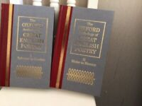 Set of Two Oxford Anthology of Great English Poetry