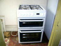 Hotpoint HAG60P Cooker Double Oven & Grill as new.