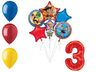 Toy Story 4 Balloon Bouquet 3rd Birthday Party Supplies Decorations Balloons (Toy Story 3 Birthday)