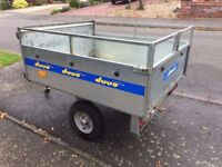 Trigano DUUO Fold-Up Trailer, Versatile, can be used as flat-bed or box, good condition