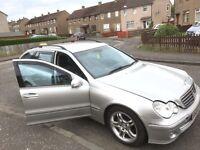 Mercedes c 200 cdi diesel 2004 year estate parts bumper bonnet wing radiator leather interior lights