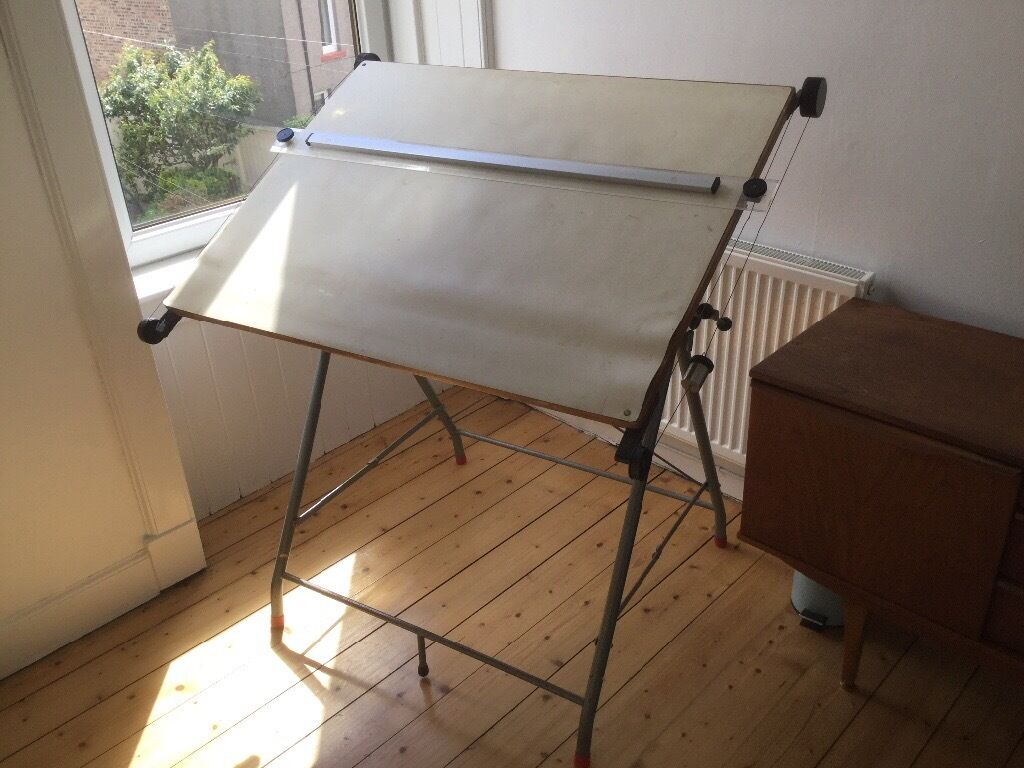 architects drawing board and stand folding standing table in