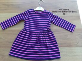 6-9 Months brand new mothercare dress