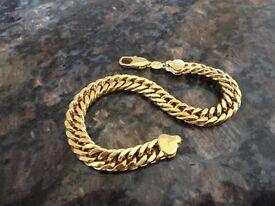 Mans heavy link bracelet