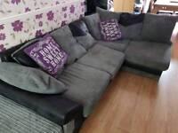 Corner sofa grey /black