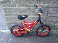 "Kids Childs Bumper Fire Power 14"" Bike (age 4 to 6 years)"