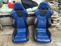 ford escort mk 6 leather bucket seats,£50,no offers