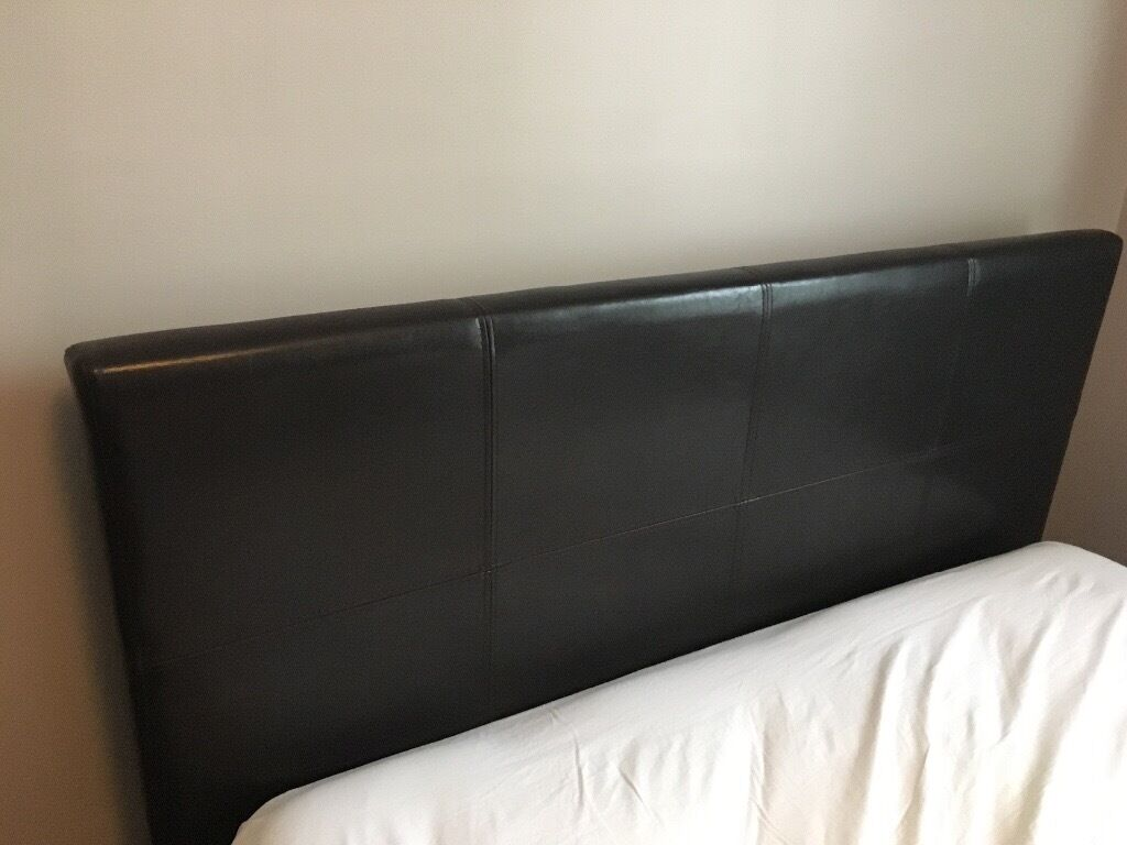 **FREE** Leather double bed frame & Headboard