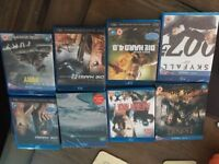 Job lot of 8 blu rays 2 never used