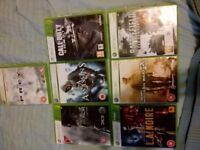 Bundle of 7 Xbox 360 Games, inc. Call of Duty, Assassin's Creed, Battlefield.