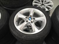 "GENUINE BMW 17"" 1 series or 3 series alloys and tyres"
