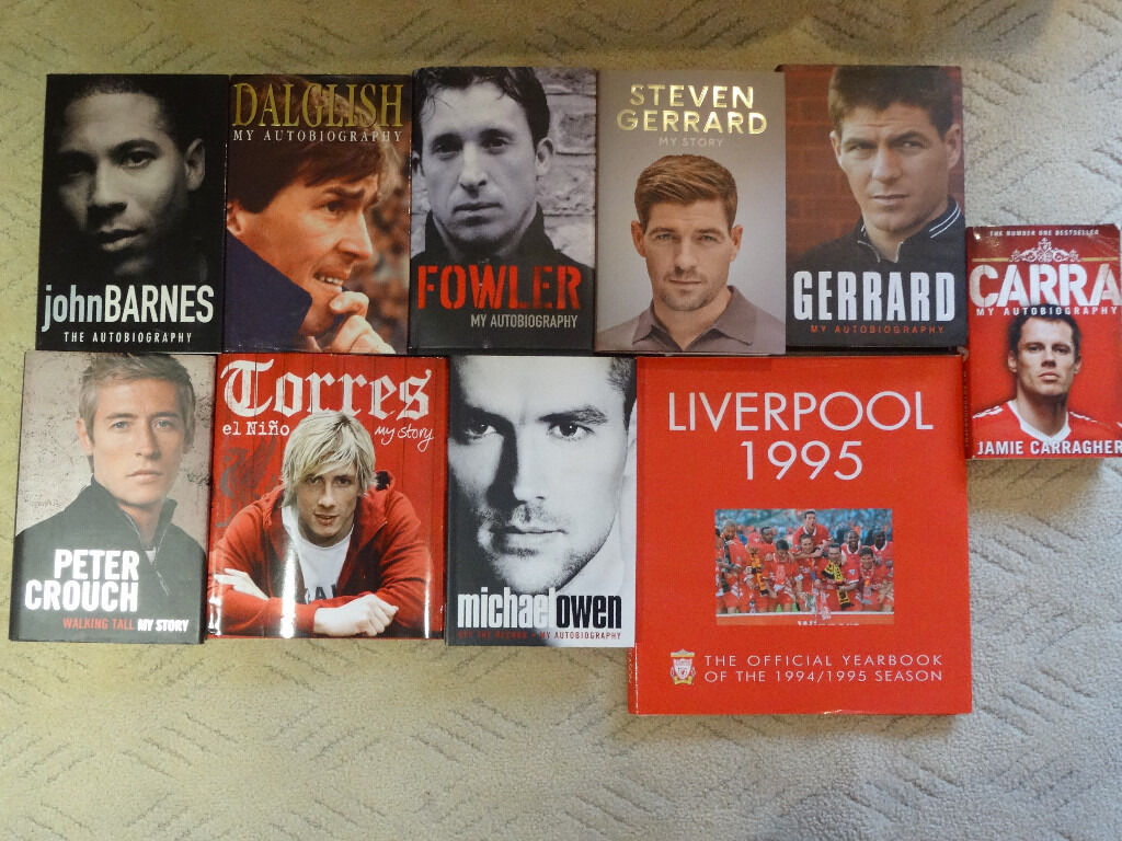 Selection of Liverpool FC autobiographies, 9 hardback, 1 paperback - all in excellent condition