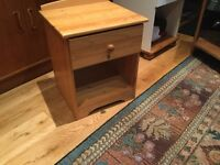 """Pine Bedside Cabinet with a drawer Height 19""""/48cm Width 15.5""""/39cm Depth 14""""/36cm"""