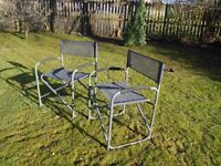 Two Folding Garden or Picnic Chairs
