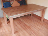 Ikea solid pine dining table