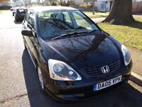HONDA CIVIC SE 2005 1.6 VTEC PETROL MANUAL BLACK 5 DOOR HATCHBACK