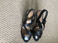 Really nice Clarks leather sandals, black, not used