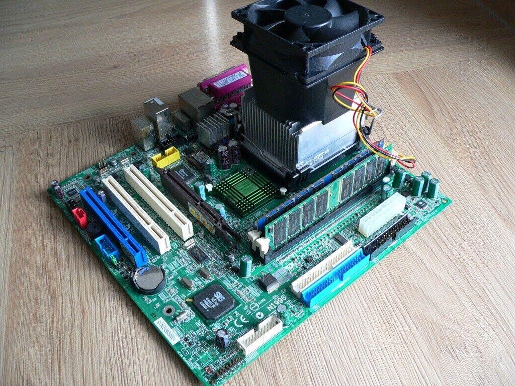 Mainboard MS 6701 ( MD5000 ) , Pentium 4 , Grafikkarte , Kühler Lüfter Blende