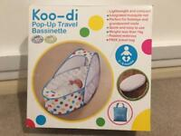 Koo-di Pop-Up Travel Cot/Bassinette