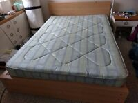 Ikea-style flat-pack Double Bed with Cumfilux 'Bali' double mattress