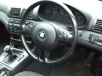 bmw e46 compact 320td steering wheel in leather BREAKING FOR PARTS