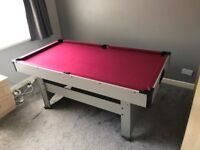 Pool Table for sale - incl. cues, balls, chalks, triangle, cross, spare tips and cover