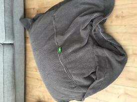 XL charcoal grey bean bag