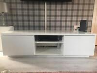 White tv unit and side tables