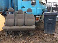 Transit minibus 3 seats with belts
