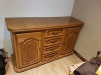 Solid wood dresser + corner TV stand