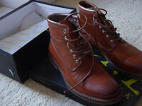 Jones Tan Leather Boots Size 9