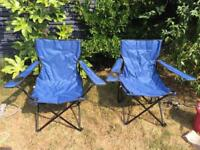2 x Camping/Garden chairs