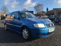 2001 VOLKSWAGEN POLO 1.0 E ** ONLY 91000 MILES + 8 MONTHS MOT +2 PREVIOUS OWNERS **