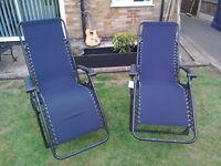 2 x zero gravity reclining chairs, as new