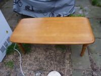 pine wood low table