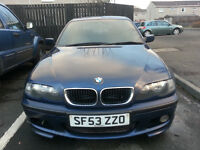 Bargain 2003 BMW E46 320d M Sport, 6 Speed Manual, 50+MPG very economical
