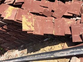 Roof tiles surplus to requirement.