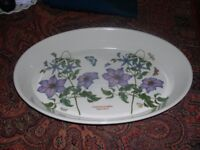 A large Portmerion dish with floral clematis design.