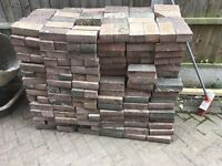 Approx 500 block paving bricks for sale