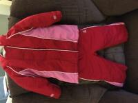 Girls 18-24 Snowsuit & size 4 Sorels