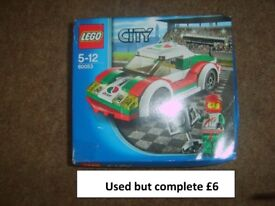 lego city racing car used but complete back in box collection only from Didcot