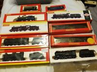 Collection of Hornby locomotive and carriages