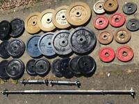 190kg metal weights plus bars